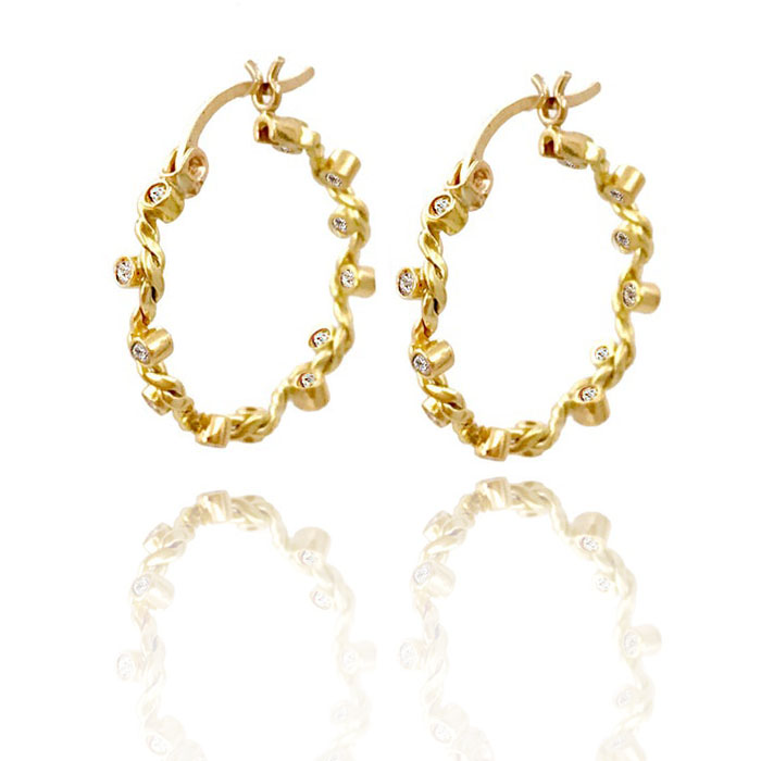 Signature-Twist-Wave-Diamond-Gold-Hoop-Earrings-JeweLyrie