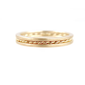 PIROUETTE-42.50.42-Slim-Twist-Satin-Stripe-Band-Three-Ring-Stacking-014k-18k-JeweLyrie