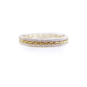 PIROUETTE-57.50.57-Slim-Twist-Double-Pave-Diamond-Stripe-Band-Three-Ring-Stacking-14k-18k-JeweLyrie_2790