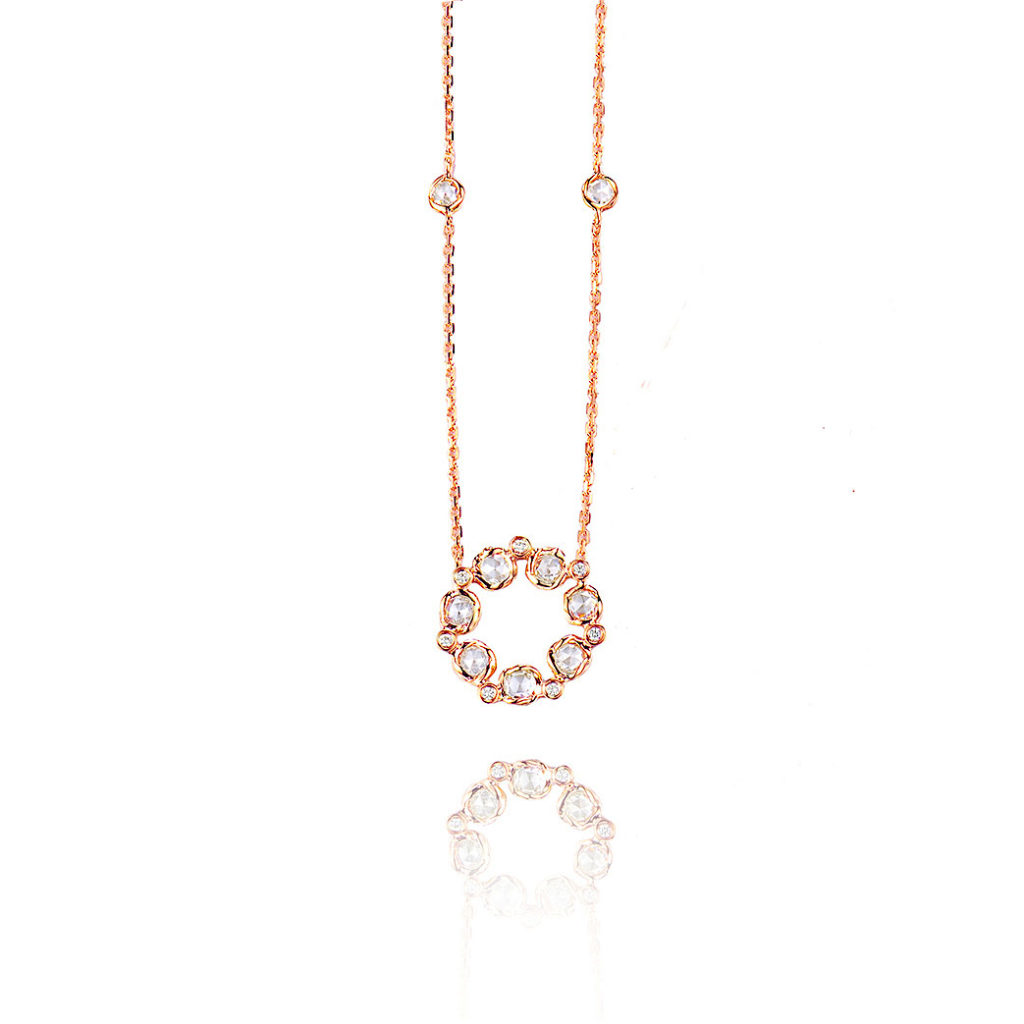 Signature-Twist-Bezel-Rose-Cut-Diamond-Eternity-Pendant-Necklace