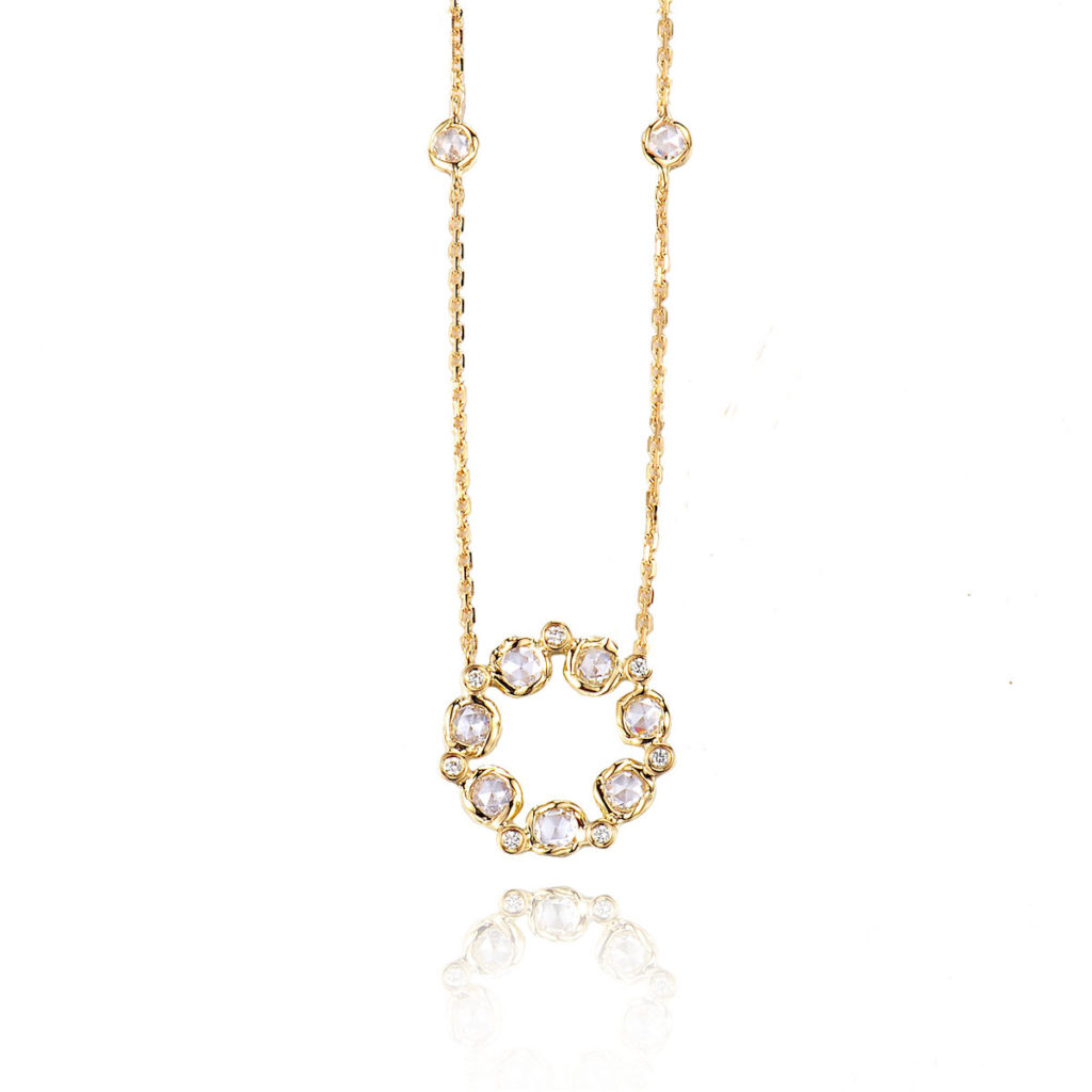 Signature-Twist-Bezel-Rose-Cut-Diamond-Eternity-Halo-Pendant-Necklace-jewelyrie