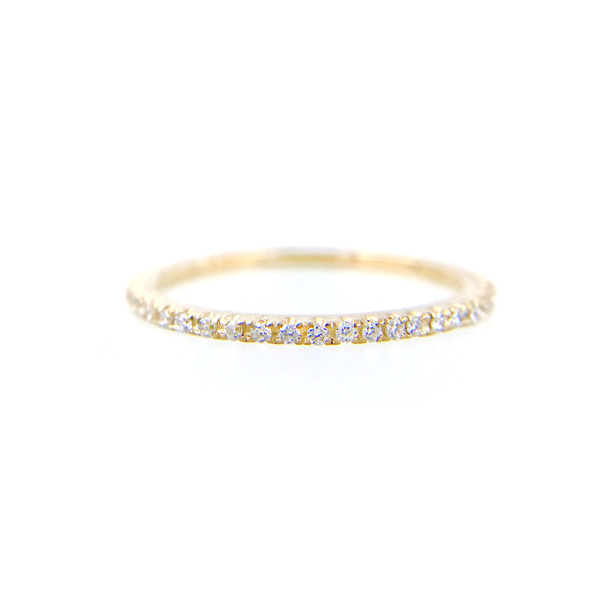 Slim-1mm-Micro-Pavé-Diamond-Eternity-Band-Ring-Guard-Spacer-14K-18K-YELLOW-WHITE-ROSE_4395W