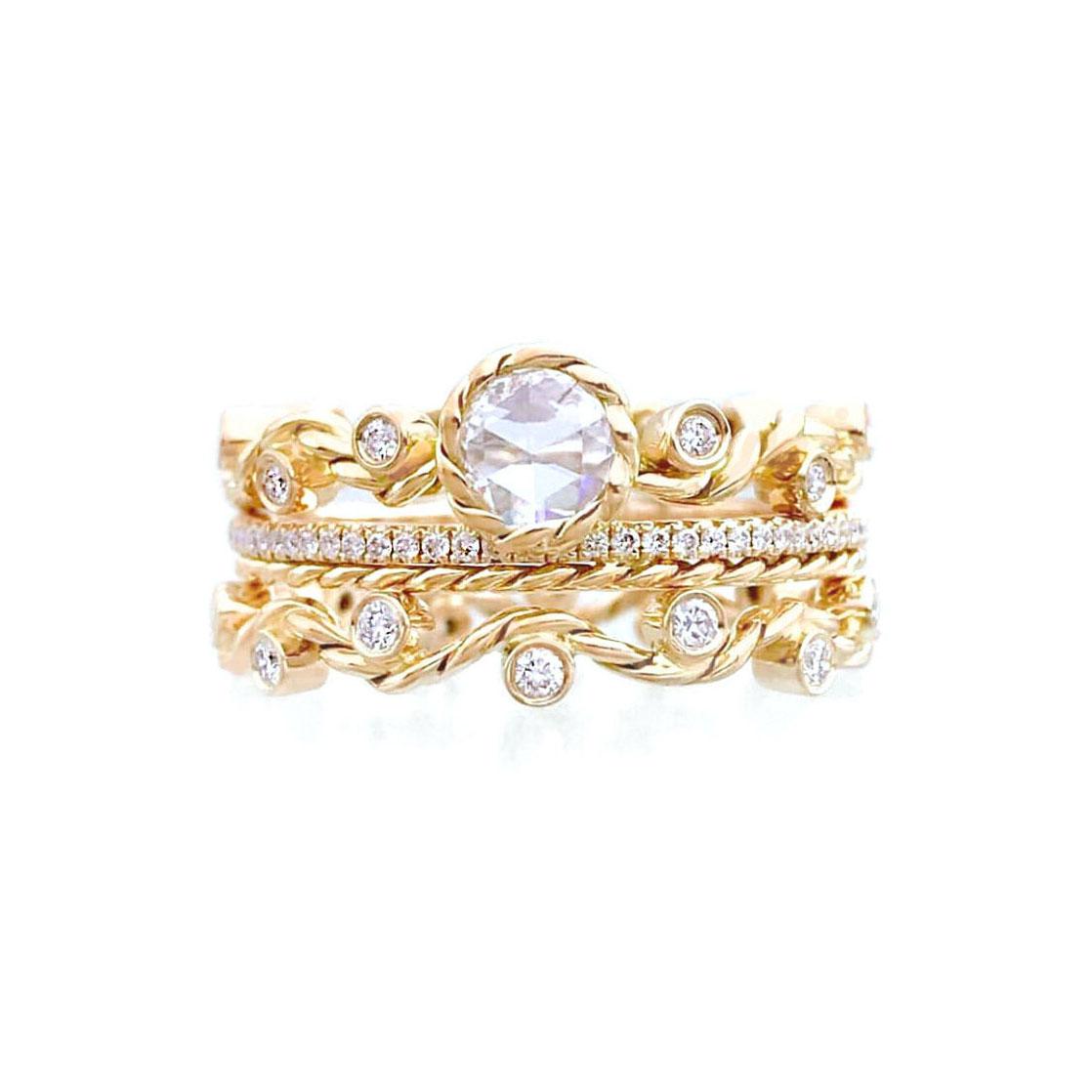 Rose-cut-diamond-twist-wave-bridal-set-jewelyrie_6371NYG