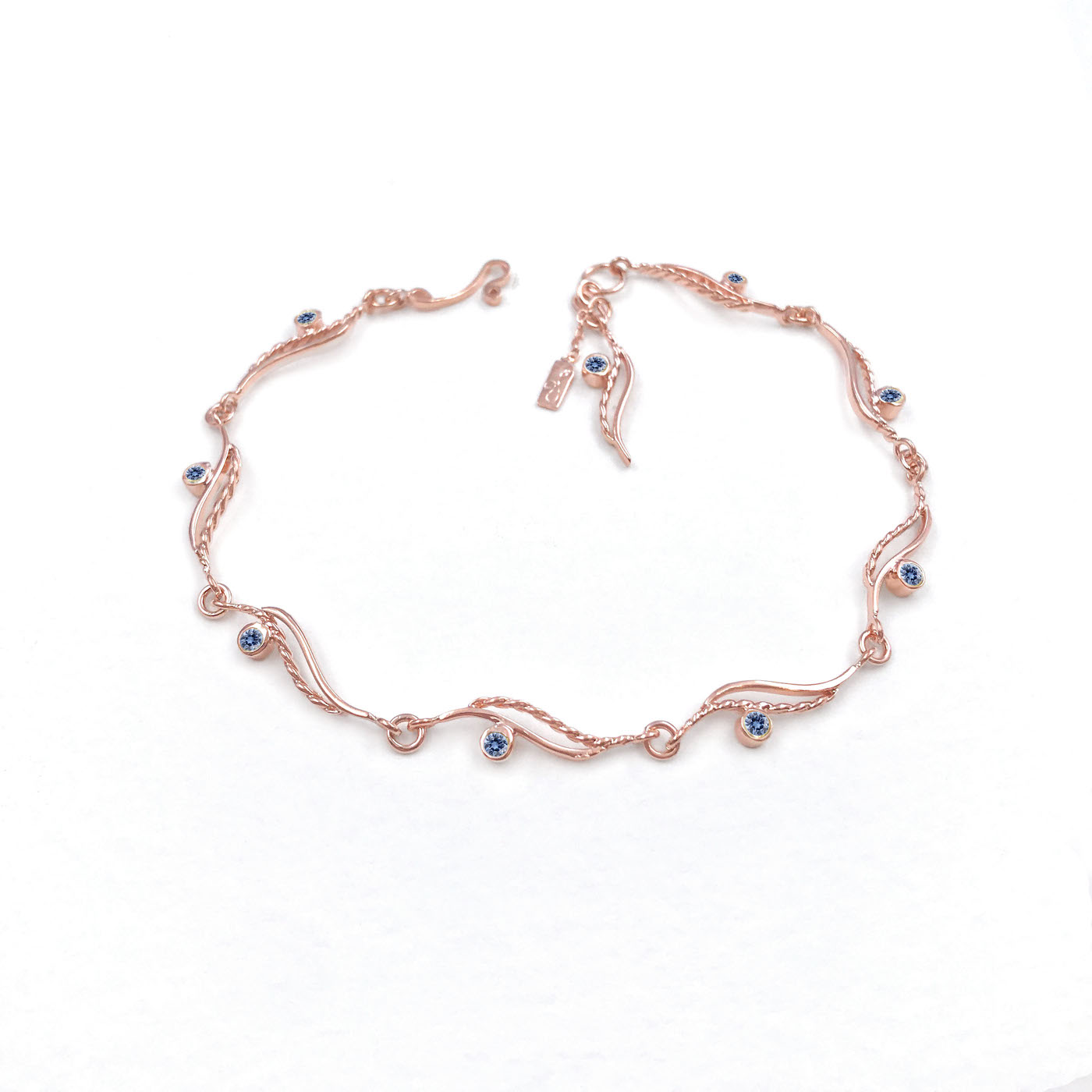 Blue Sapp Rose Gold
