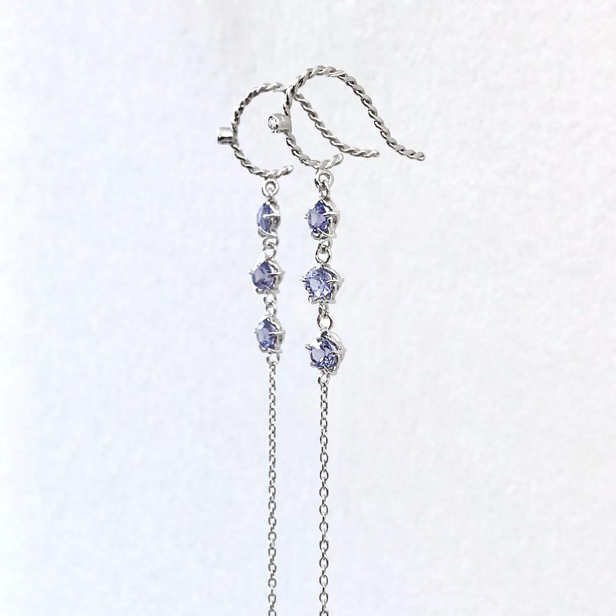 Trail-Lee-Tanzanite-Trio-Chain-Tassel-duster-Earrings-18k_5580