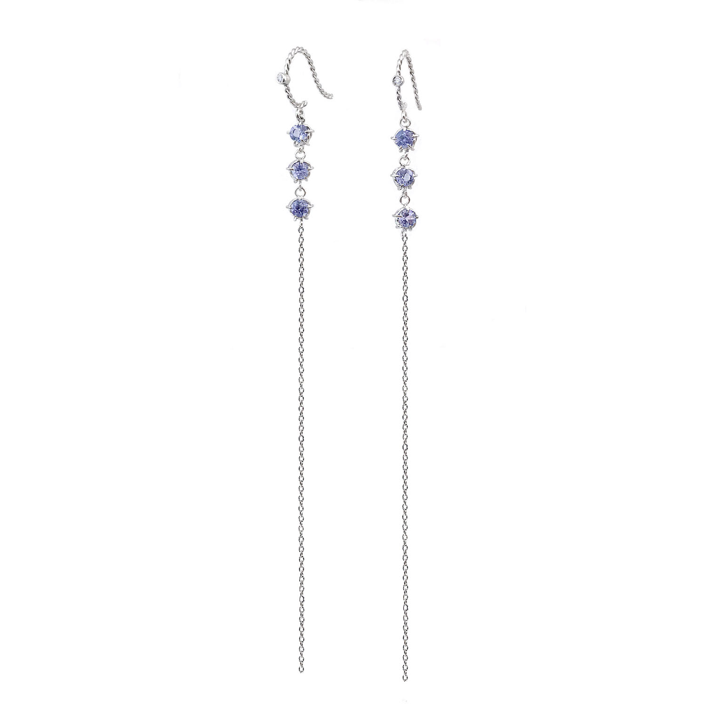 tanzanite-trio-duster-diamond-accent-twist-earrings-14k-18k-jewelyrie