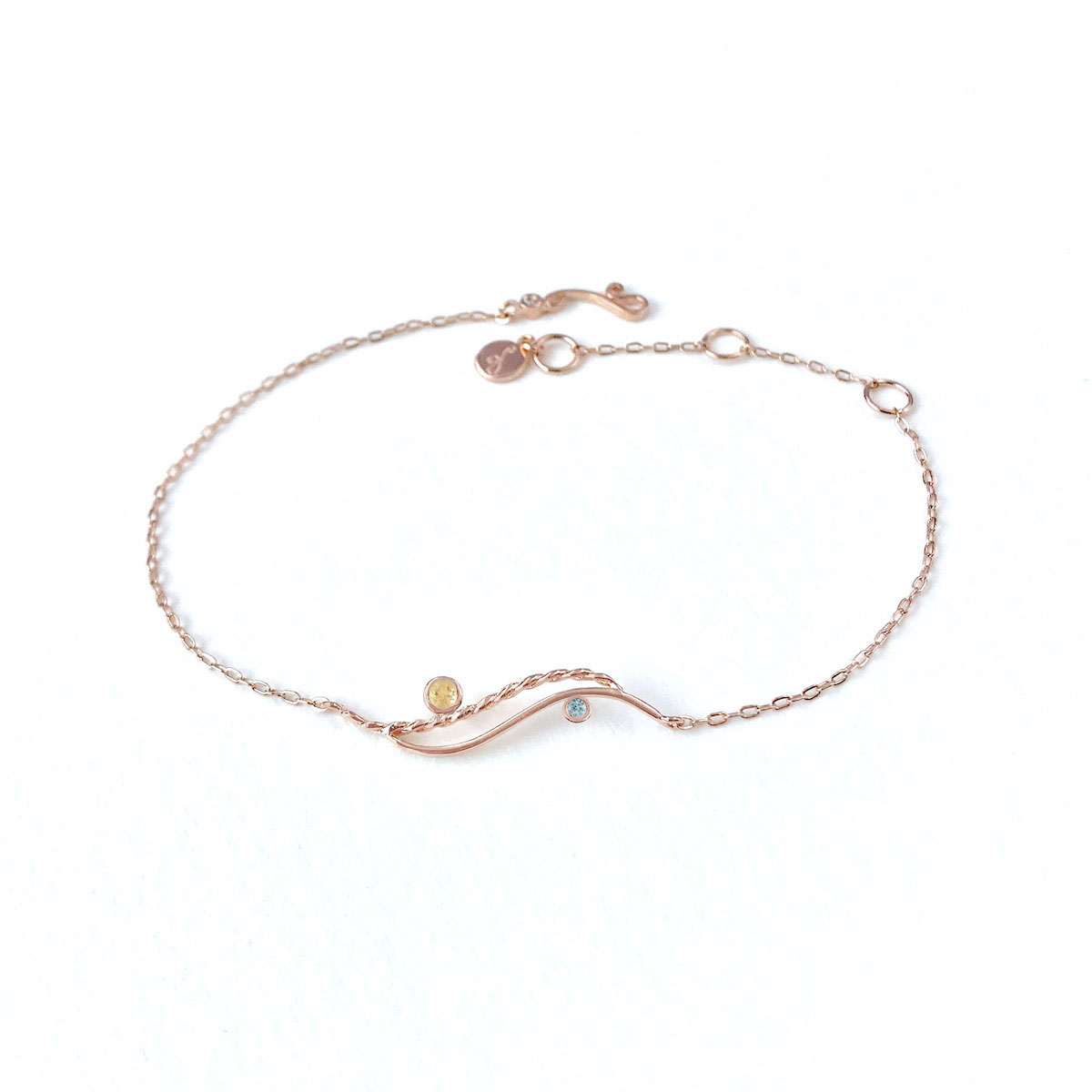 Citrine-Zircon-Open-Wave-bracelet-14k-jewelyrie