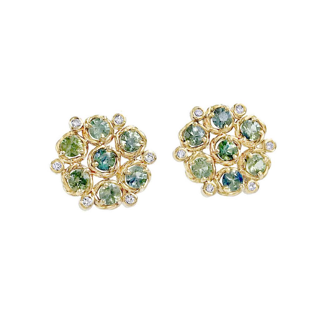 blue-green-sapphire-bouquet-cluster-studs- 14k-18k-jewelyrie-B