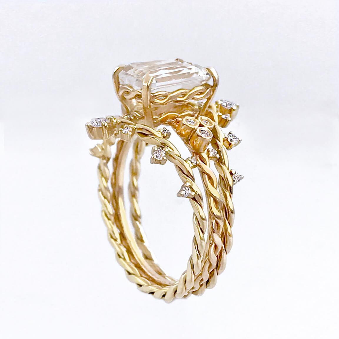 emerald-cut-qurtz-diamond-solitaire-twiat-stacking-set-14k-18k-M-jewelyrie