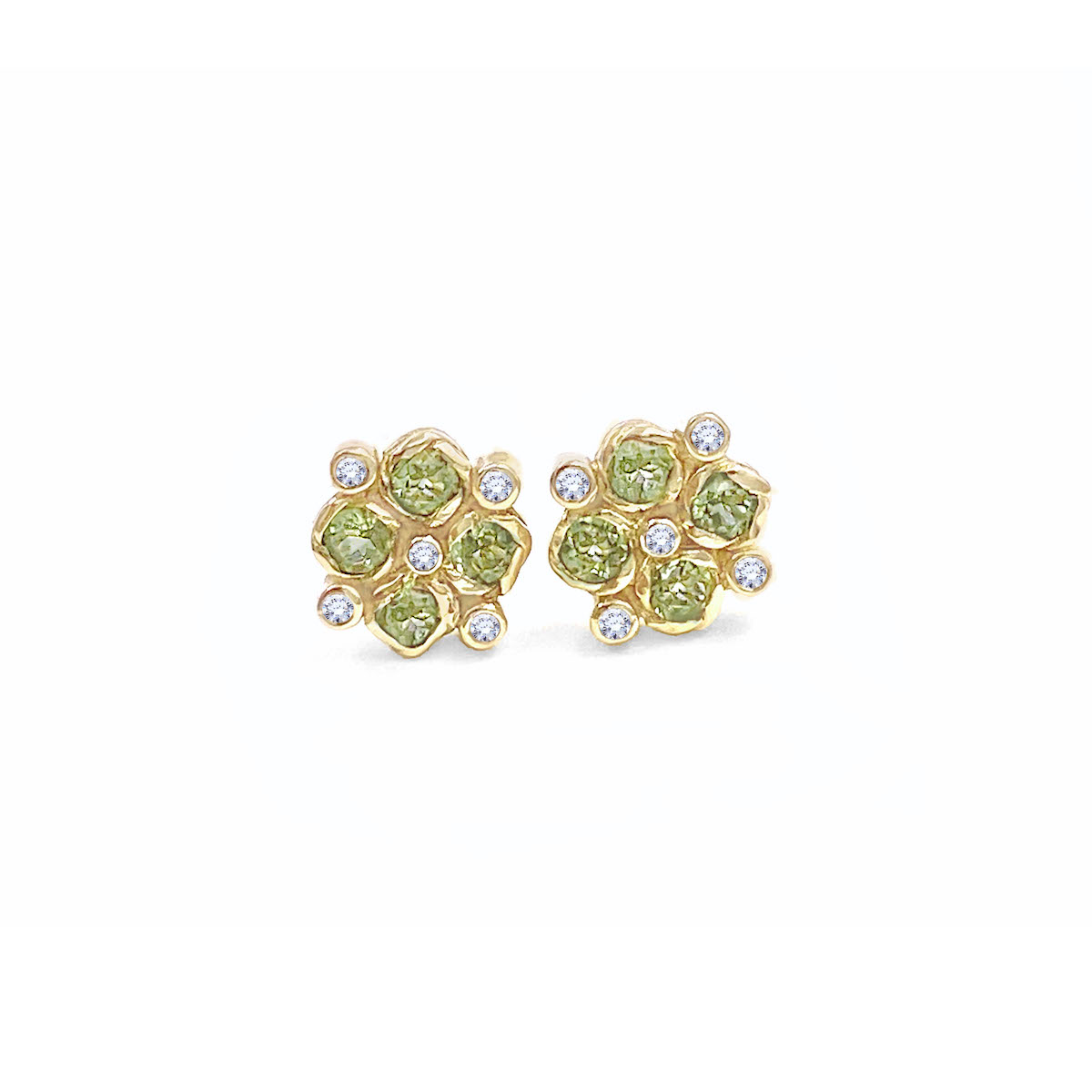 peridot-diamond-checker-studs-jewelyrie-14k-18k-YG