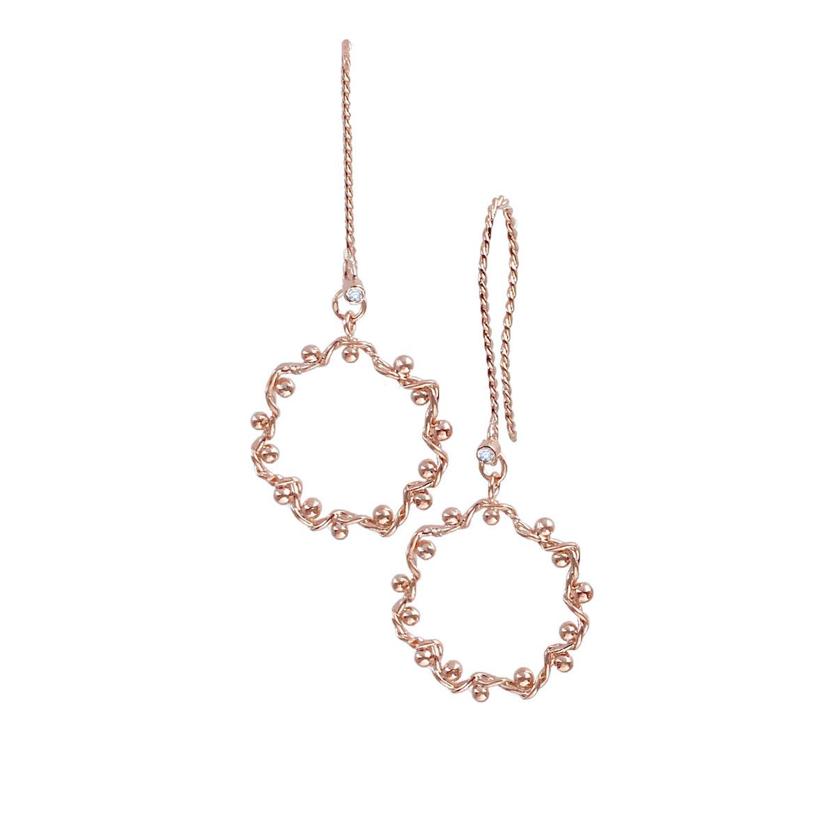 twist-wave-dangle-hoop-earrings-textured French-hook-14k-18k-jewelyrie_6869RG