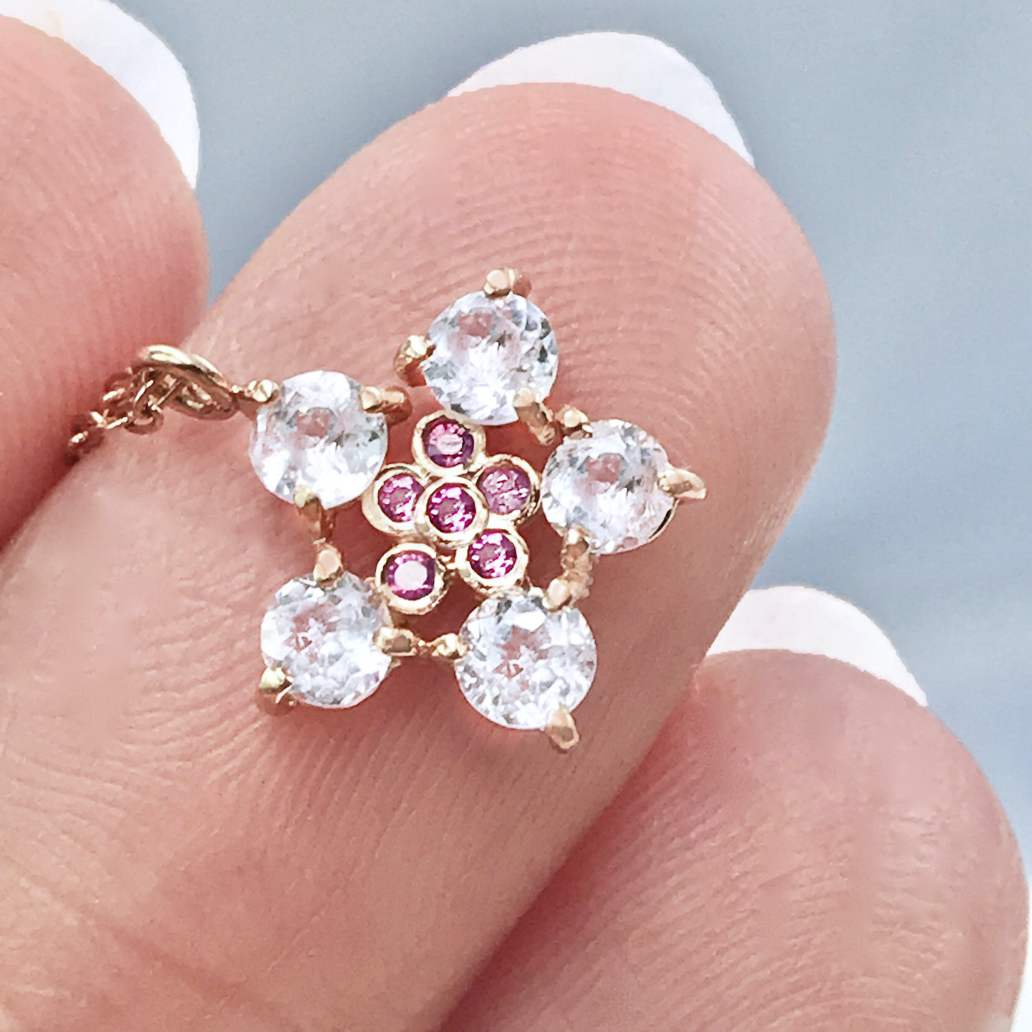 Forget-Me-Not-White-Zircon-Pink-Sapphire-Pendant-Necklace-14k-18k-JeweLyrie_8301