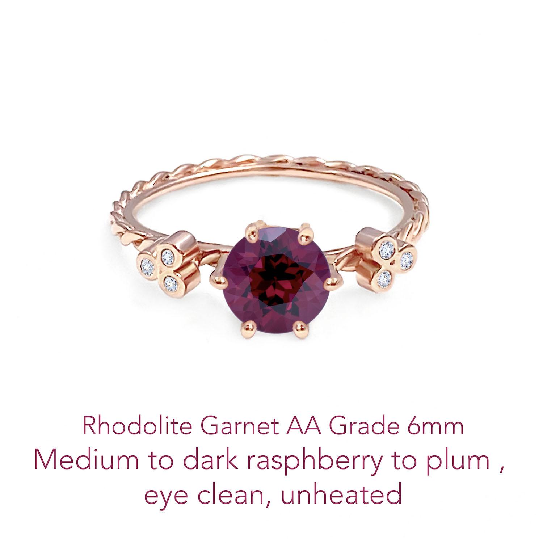 Garnet Rhodolite AA