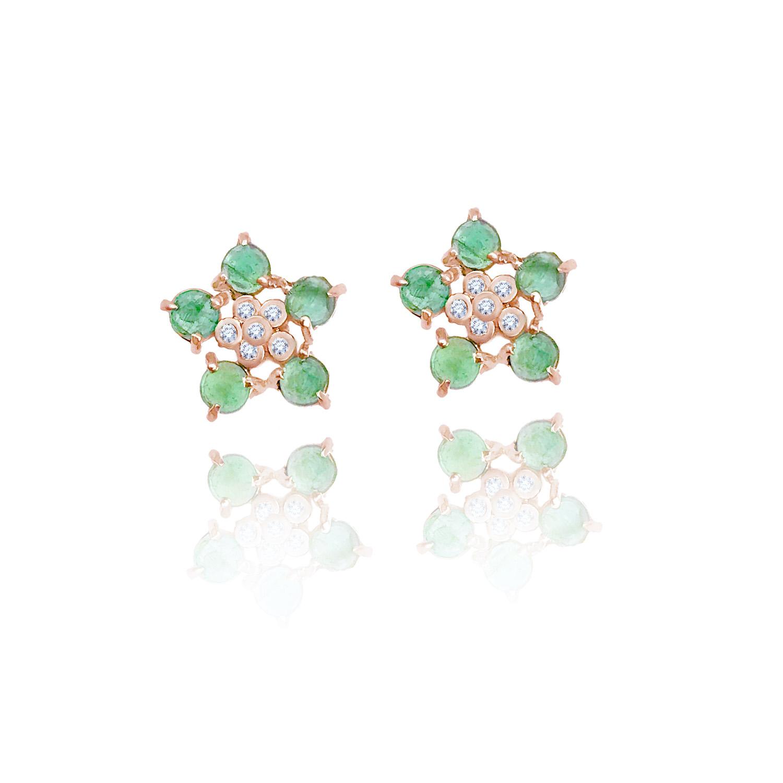 forget-me-not-emerald-diamond-flower-studs-14k-18k-jewelyrie