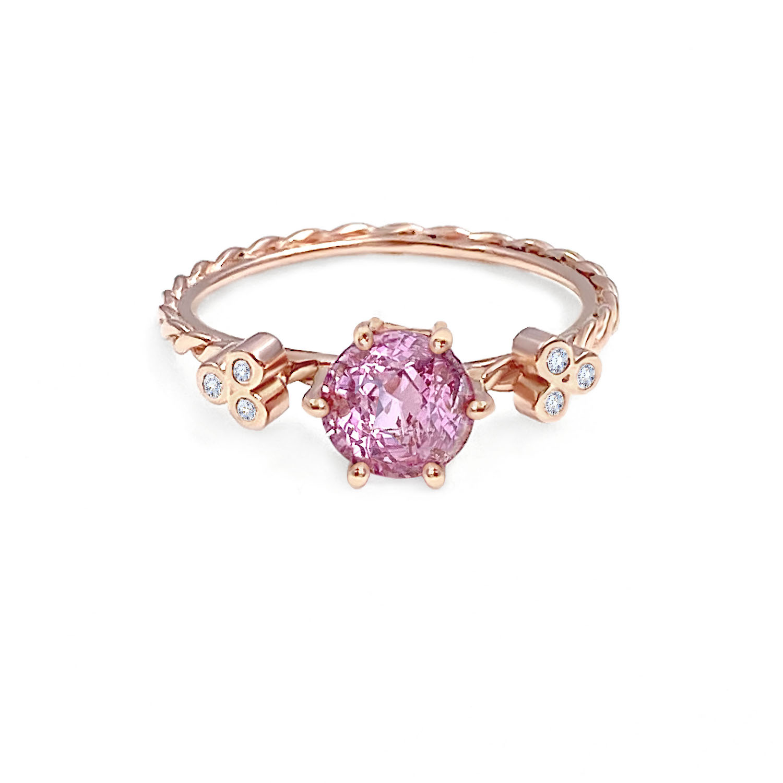 round-gemstone-pink-sapphire-diamond-twist-ring-14k-jewelyrie