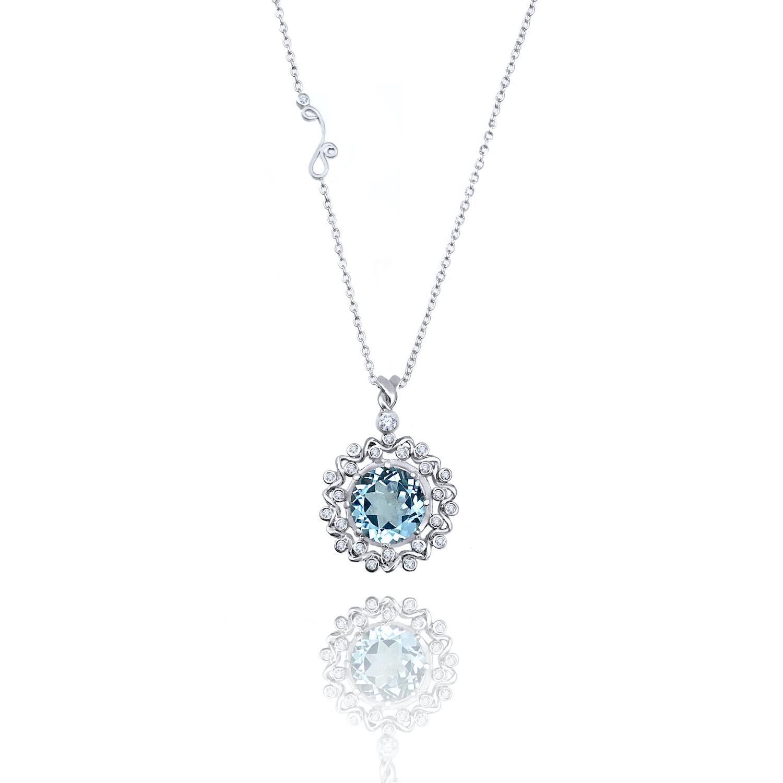 Twist-Wave-Halo-Blue-Topaz-Diamond-Pendant-Necklace-14k-18k-JeweLyrie