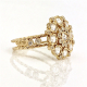 18k-gold-rose-cut-diamond-bouquet-cluster-ring-in-Jewelyrie-signature-twist-petal-setting-ALGR-03