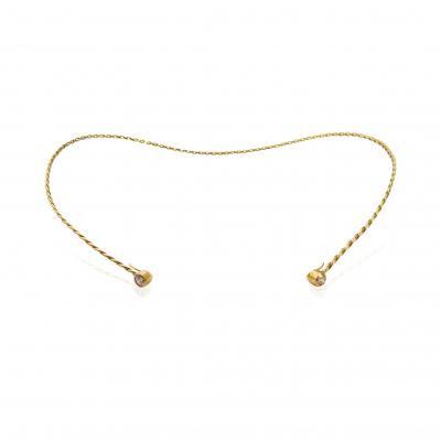 Diamond Accent Infinity Twist Contour Neck Collar