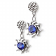 Jewelyrie-Eclipse-Collection-18k-White-Gold-Diamond-Tanzanite-Drop-Rimmed-Texture-Disc-Post-Earrings