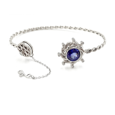 Lunar Eclipse Cuff Bracelet OOAK