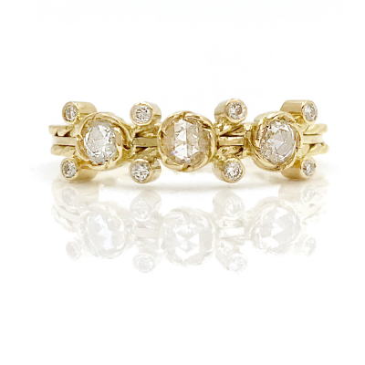 Cabriole Three Stone Ring