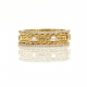 18k-Gold-Double Baguette-Diamond-Wedding -Band-Stacking-Ring-Guard-CBLR-RGA