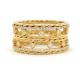 18k-gold-diamond-dot-Twist-Texture-band-Stacking-set-ring-CBLR-04
