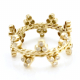 18K-Gold-Crown-Diamond-Band Stacking-Ring-Jewelyrie-CBLR-05