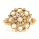 18k-gold-petal-cup-rose-cut-diamond-cluster-ring-in Jewelyrie-signature-twist-petal-setting-ALGR-03