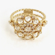 18k-gold-handmade-petal-cup-rose-cut-diamond-cluster-ring-bezeled-halo-in-Jewelyrie-signature-pirouette-twist