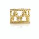 18K-Gold-Diamond-Cluster-Crest- Zig-Zag-Lace-Fashion-Stacking-Ring-Set-GLIR-07