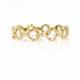 18K-Gold-Petal-Cup-Rose Cut-Diamond-Eternity-Band-Stacking-Ring-GLIR-01