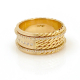 18k-Gold-Rollin-Double-Pave-Diamond-Belt-Shield-Cigar-Band-Half-Ring-Jewelyrie-Effacé-EFCR-01D