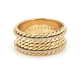 18k-Gold-spin-Double-Pave-Diamond-Eternity-Ring-Satin-Shield-Cigar-Band-EFCR-01