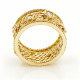 18k-gold-twist-mesh-textured-rose-cut-diamond-cigar-band-pave-diamond-rims-unisex-ring-jewelyrie-Effacé-collection-EFCR-06