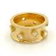 Rose-Cut-Diamonds-18k-Gold-Satin-Concave-Cigar-Wide-Band-Unisex-Ring-EFCR-07.
