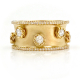 Rose-Cut-Diamonds-18k-Gold-Satin-Concave-Cigar-Band-Unisex-Ring-EFCR-07