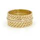 18k-Twist-Mesh-Center-Pave-Diamond-Belt-Shield-Cigar-Band-Unisex-ring-EFCR-05