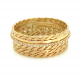 18k-Twist-Mesh-textured-Center-Pave-Diamond-Cigar-Band-featuring-signature-twist-mesh-textured-wide-band-with-off-center-Diamond-Belt-EFCR-03F