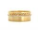 slim-pave-diamond-line-18k-twist-accent-satin-cigar-band-Same-Sex-Wedding-Ring-EFCR-02