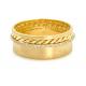 slim-pave-diamond-line-18k-twist-accent-satin-cigar-band-Wedding-Ring-EFCR-02F