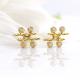 18k-gold-diamond-four-star-twist-bar-stud-earrings-SIS-18 copy
