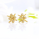 18k-Gold-Diamond-Four-Star-Open-Twist-Stud-Earrings-Tar