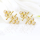18k-Gold-Diamond-Flank-Cluster-Twist-Stud-Earrings-Tulle-Collection-Jewelyrie-VIV