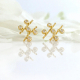 18k-Gold-Diamond-Five-Star-Twist-Stud-Earrings-from-Jewelyrie-KIK